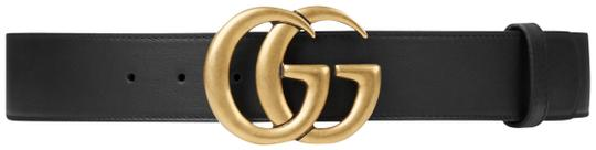 a129609e026 gucci black leather waist belt with silvertone metal available via ...