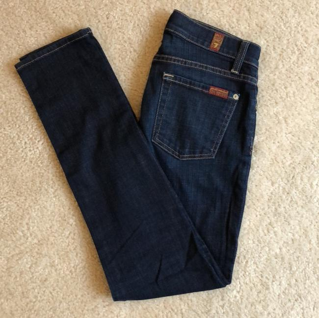 7 For All Mankind Skinny Jeans-Dark Rinse Image 5