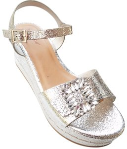 Bamboo Silver Wedges