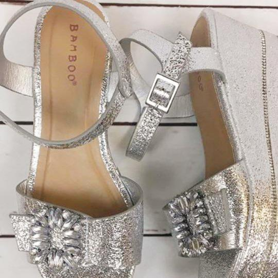 Bamboo Silver Wedges Image 3