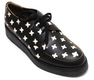 Marni Creepers Lace-up Oxford Designer Black, White, Yellow Flats