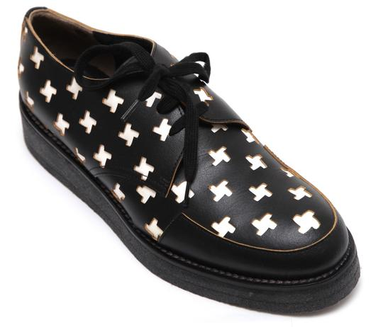 Preload https://img-static.tradesy.com/item/23787125/marni-black-white-yellow-leather-oxford-lace-up-cut-out-creepers-leather-patent-flats-size-eu-39-app-0-0-540-540.jpg