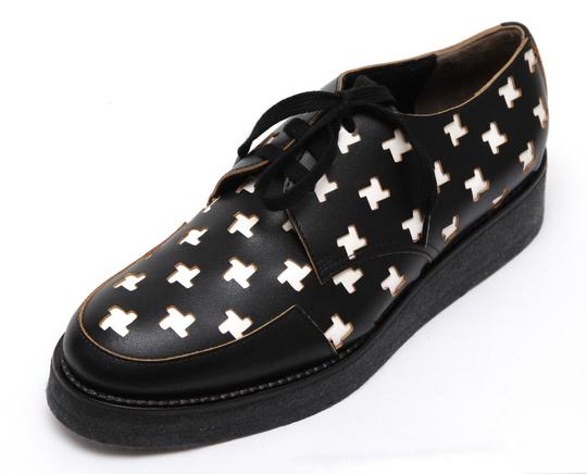 Marni Creepers Lace-up Oxford Designer Black, White, Yellow Flats Image 2