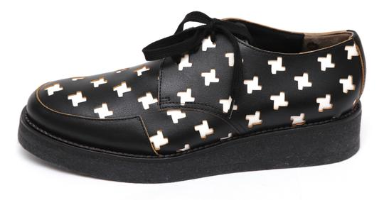 Marni Creepers Lace-up Oxford Designer Black, White, Yellow Flats Image 3