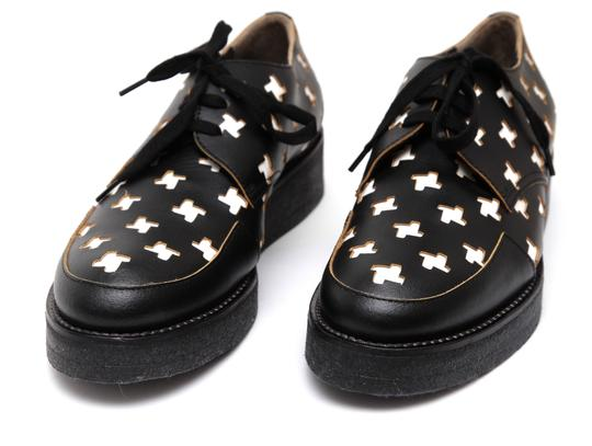 Marni Creepers Lace-up Oxford Designer Black, White, Yellow Flats Image 5