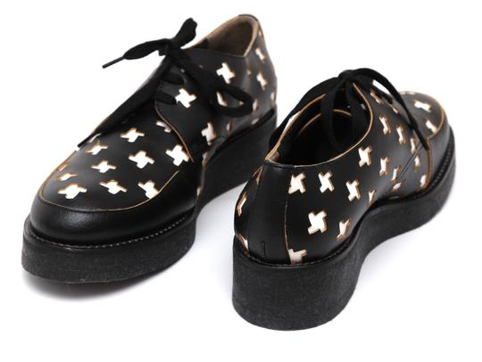 Marni Creepers Lace-up Oxford Designer Black, White, Yellow Flats Image 6