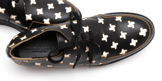 Marni Creepers Lace-up Oxford Designer Black, White, Yellow Flats Image 8