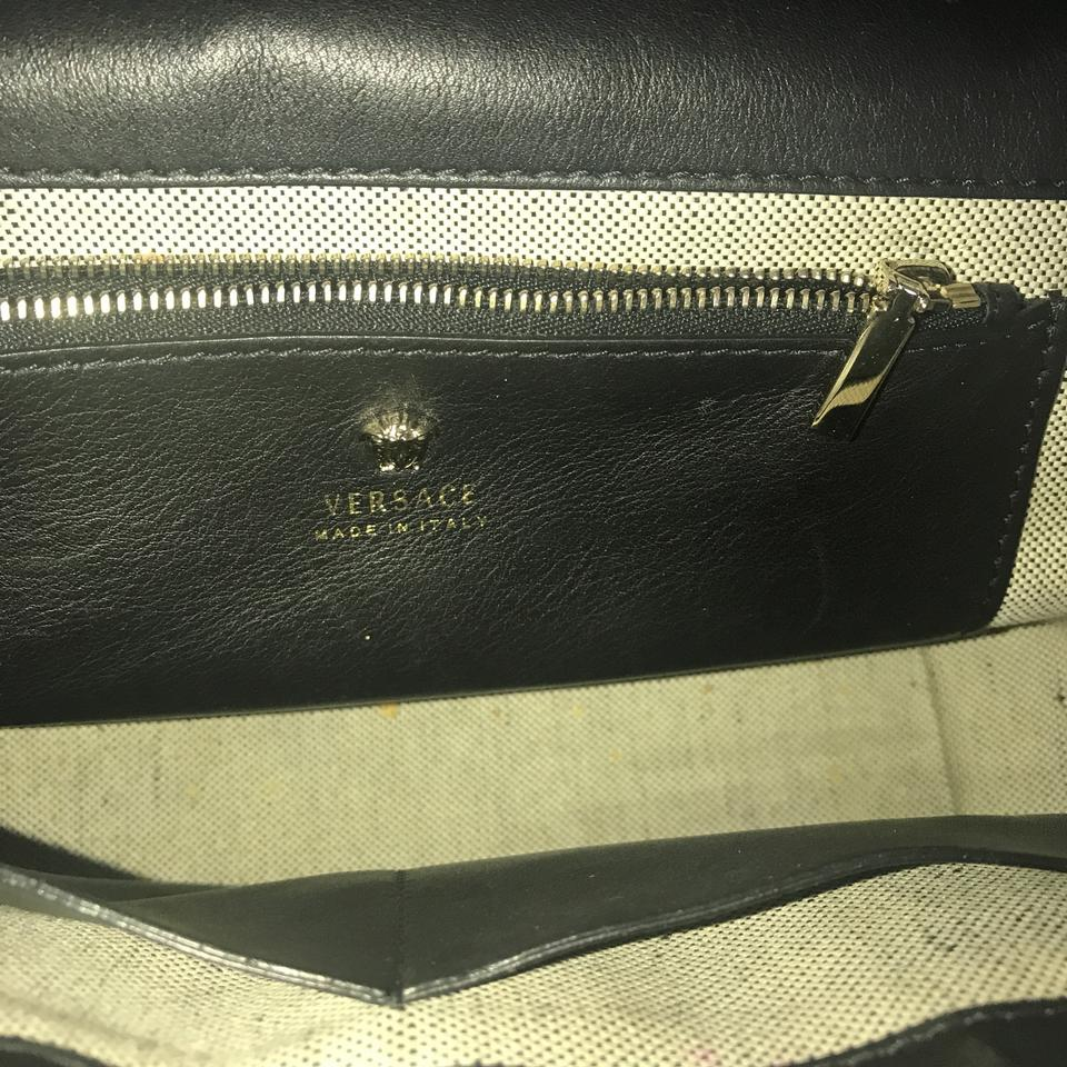 Versace Bag Cross Palazzo Empire Body Black Leather Medusa rSCwrxq06