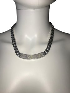 Franco Pianegonda Pianegonda diamond sterling silver chunky ID style chain necklace