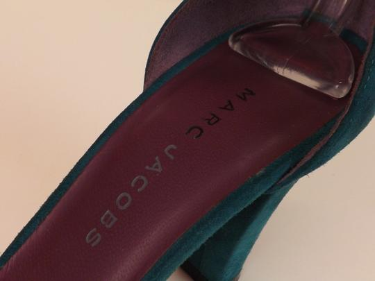Marc Jacobs Cone Buckle Turquoise Green Blue Teal / Silver Pumps Image 11