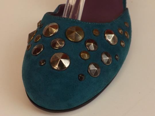 Marc Jacobs Cone Buckle Turquoise Green Blue Teal / Silver Pumps Image 3