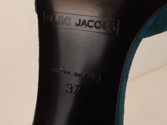 Marc Jacobs Cone Buckle Turquoise Green Blue Teal / Silver Pumps Image 7