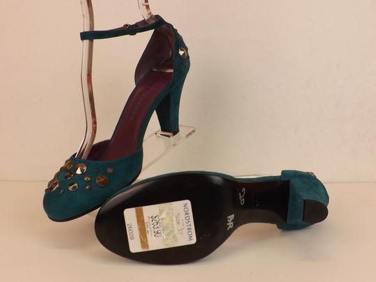 Marc Jacobs Cone Buckle Turquoise Green Blue Teal / Silver Pumps Image 2