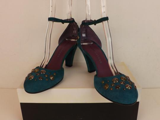 Marc Jacobs Cone Buckle Turquoise Green Blue Teal / Silver Pumps Image 6