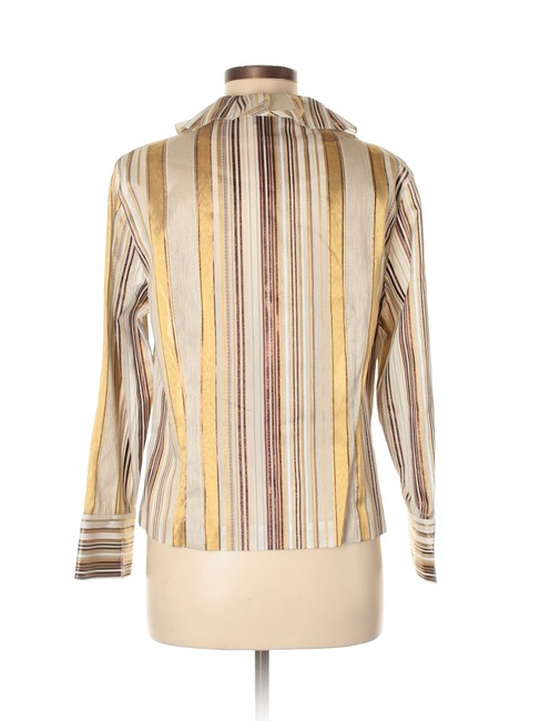 Doncaster Semi-sheer Ruffle Striped Dressy Top Image 1