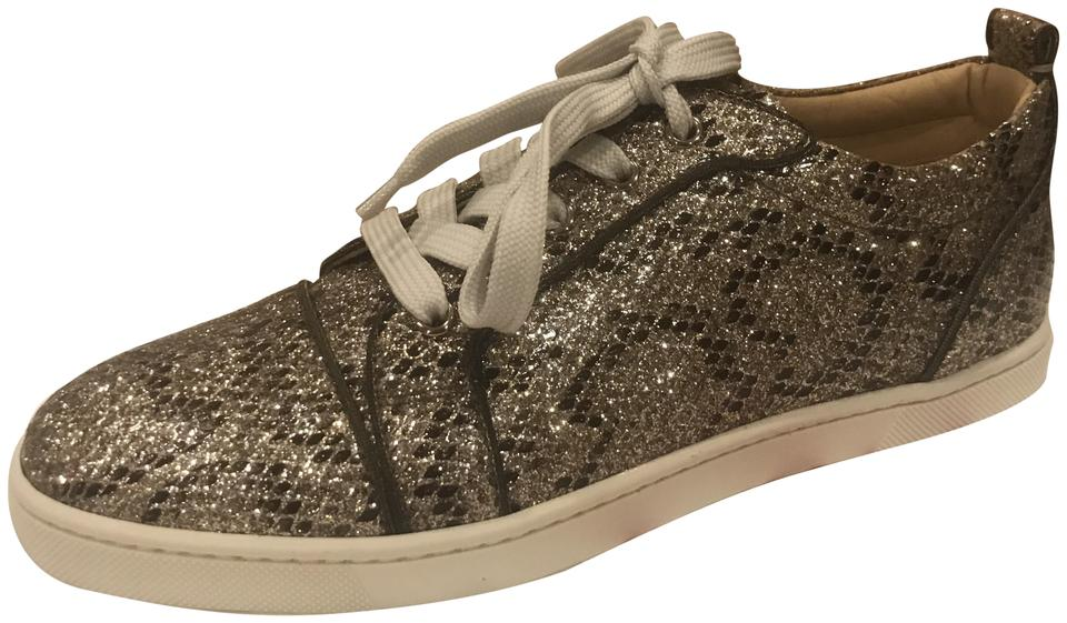 new concept 37502 f359c Christian Louboutin Beige/Light Gold Gondoliere Orlato Glitter Snake Print  Low Top Trainers Sneakers Size EU 39 (Approx. US 9) Regular (M, B) 27% off  ...