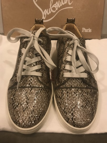 Christian Louboutin Fashion Sneaker Gondoliere Glitter Orlato Snake Beige/Light Gold Athletic Image 10