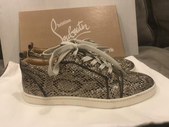 Christian Louboutin Fashion Sneaker Gondoliere Glitter Orlato Snake Beige/Light Gold Athletic Image 8