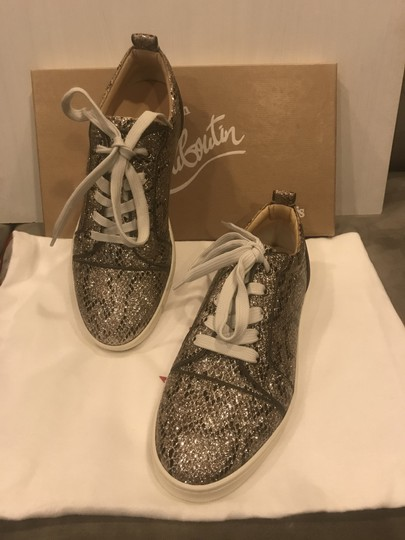 Christian Louboutin Fashion Sneaker Gondoliere Glitter Orlato Snake Beige/Light Gold Athletic Image 9
