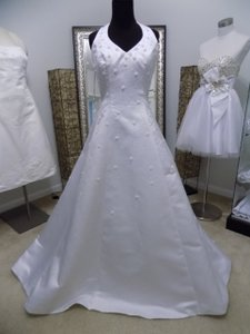 Alfred Angelo White 1826 Traditional Wedding Dress Size 8 (M)