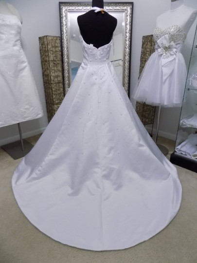 Alfred Angelo White 1826 Traditional Wedding Dress Size 8 (M) Image 2
