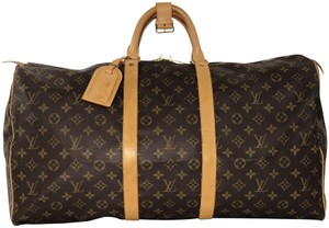 Louis Vuitton Monogram Keepall 55 Keepall 55 Keepall Monogram Canvas Brown Travel Bag