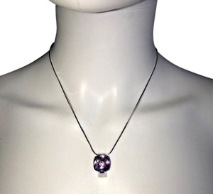 "Franco Pianegonda Pianegonda ""Cosmic Drops"" amethyst silver chain necklace"