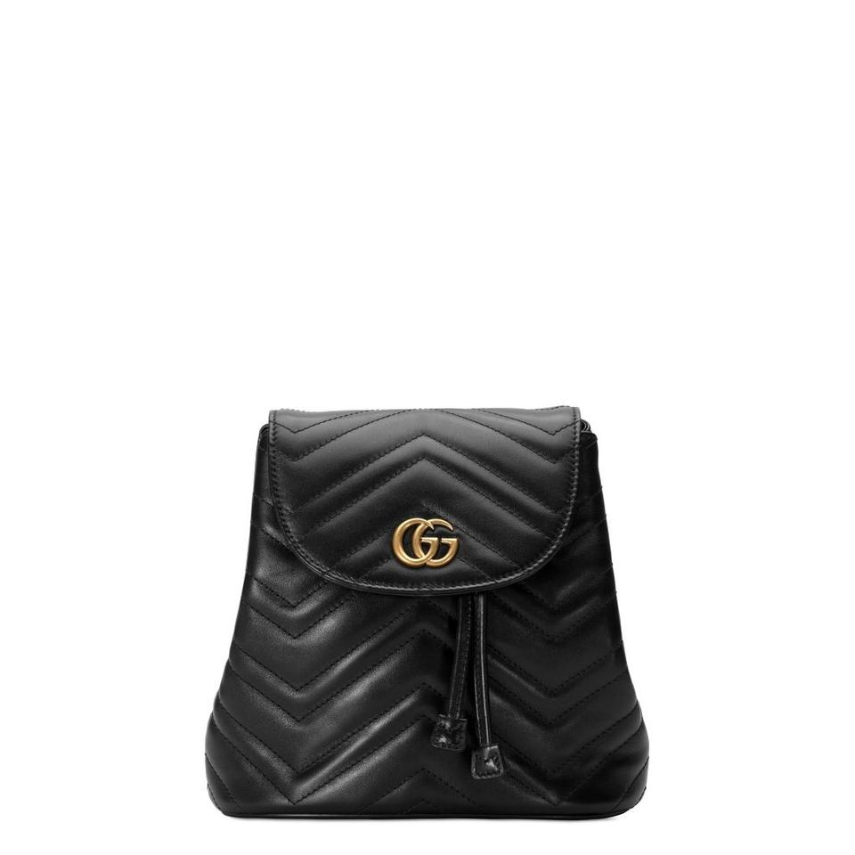 044f7e9824cb Gucci Marmont New Matelasse Black Leather Backpack - Tradesy