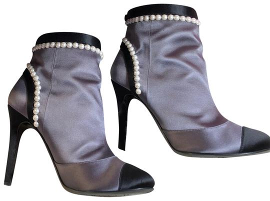 Chanel black gray Boots Image 0