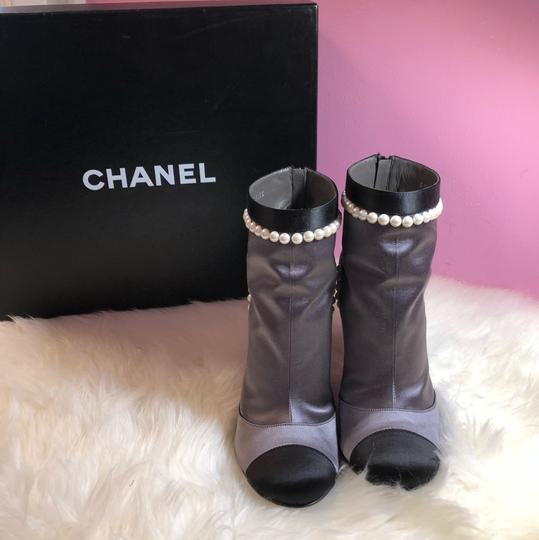 Chanel black gray Boots Image 1