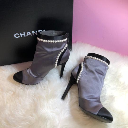 Chanel black gray Boots Image 10