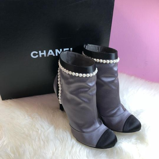 Chanel black gray Boots Image 11