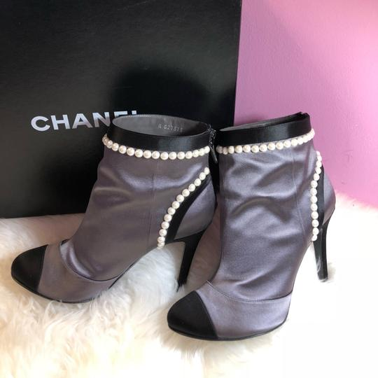 Chanel black gray Boots Image 5