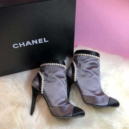 Chanel black gray Boots Image 8