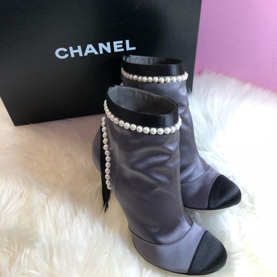 Chanel black gray Boots Image 9
