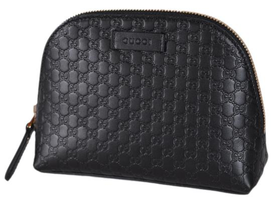 162b537b8391 gucci black new 449893 leather micro gg guccissima cosmetic bag 18% off  retail. TRADESY