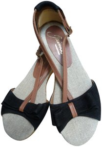 Gaimo Spain Black, Brown, Jute Sandals