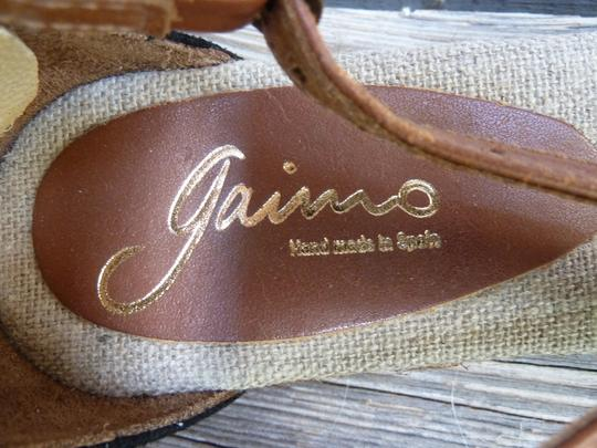 Gaimo Spain Black, Brown, Jute Sandals Image 7