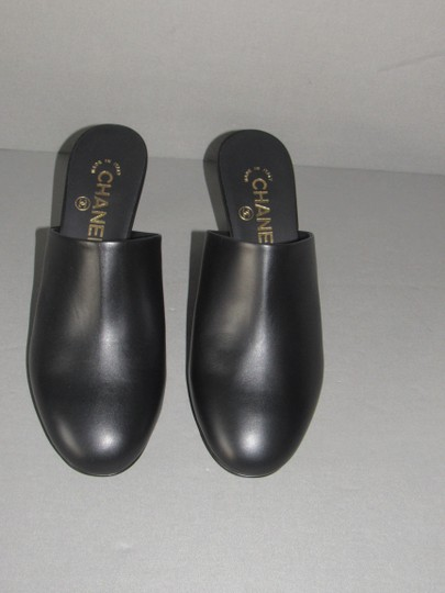 Chanel With Box Booties Black Mules Image 4