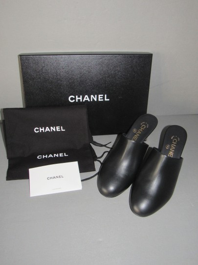 Chanel With Box Booties Black Mules Image 5