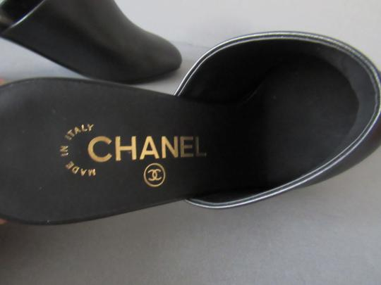 Chanel With Box Booties Black Mules Image 7
