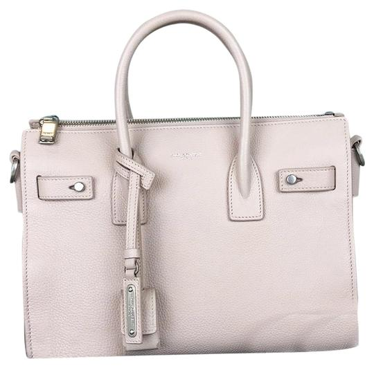 0c8a80e9eff Saint Laurent Yves Baby Sac De Jour Leather Tote in Pink Image 0 ...
