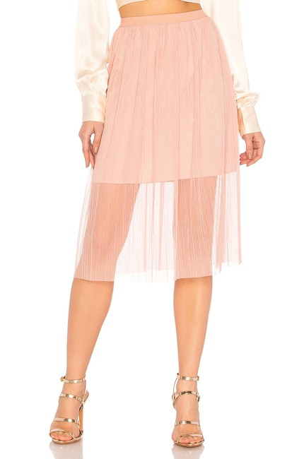 BCBGeneration Lined Elasticized Waist Crumpbled Tulle Dress Up Or Down Versatile Color Skirt Pink Image 1
