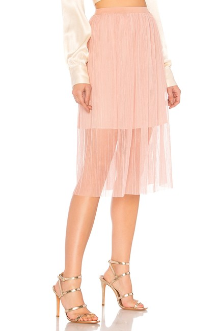 BCBGeneration Lined Elasticized Waist Crumpbled Tulle Dress Up Or Down Versatile Color Skirt Pink Image 2