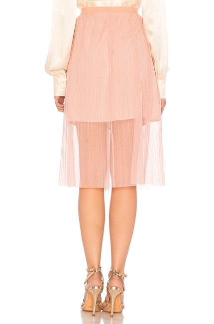 BCBGeneration Lined Elasticized Waist Crumpbled Tulle Dress Up Or Down Versatile Color Skirt Pink Image 3