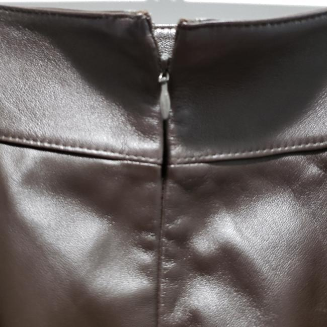 Classiques Entier Leather Pencil Lined Skirt Brown Image 3