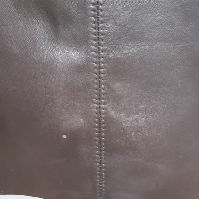 Classiques Entier Leather Pencil Lined Skirt Brown Image 5