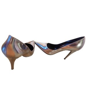 Sergio Rossi metallic silver Pumps