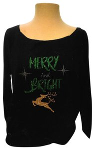 Next Level Apparel Bright Christmas Colorful Loud Advertising T Shirt Black