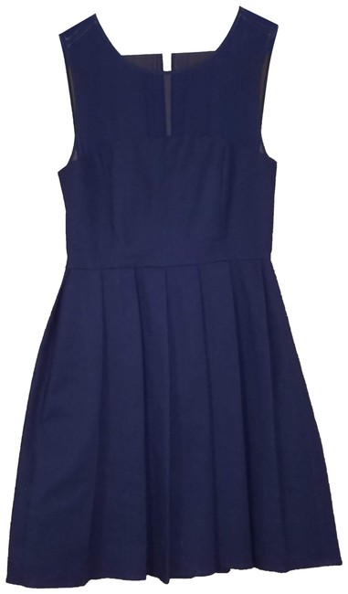Preload https://img-static.tradesy.com/item/23787834/halston-blue-short-cocktail-dress-size-4-s-0-1-650-650.jpg